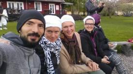 Ängsbacka med Anna, Lotta och Micke