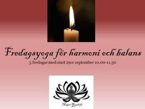 Fredagsyoga för harmoni och balans